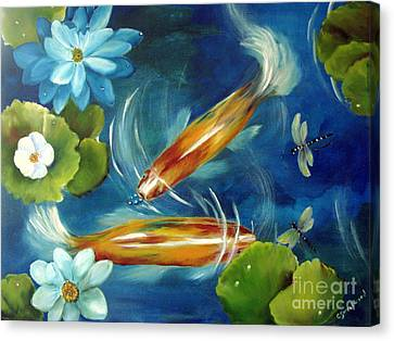 Bubble Maker Canvas Print by Carol Sweetwood