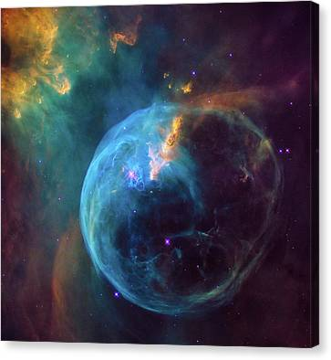 Bubble Nebula Canvas Print by Marco Oliveira