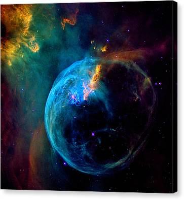 Bubble Nebula Canvas Print by Weston Westmoreland
