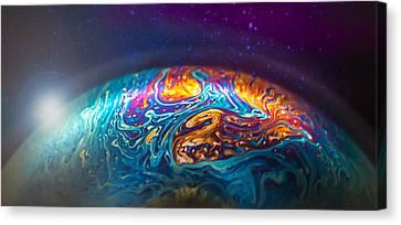 Bubble Planet II  Canvas Print