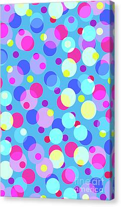 Bubble Pop Canvas Print by Louisa Knight