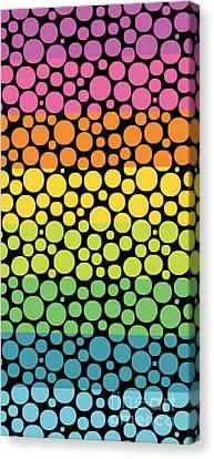 Bubble Rainbow Canvas Print