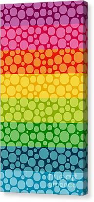Diversity Canvas Print - Bubble Rainbow II by Edward Fielding