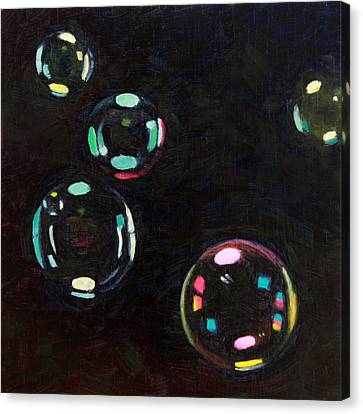 Bubble Study 01 Canvas Print by Guenevere Schwien