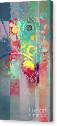Canvas Print featuring the painting Bubble Tree - 285l by Variance Collections