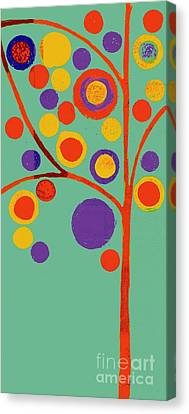 Bubble Tree - 290l - Pop 01 Canvas Print by Variance Collections