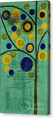 Bubble Tree - 4211t Canvas Print by Variance Collections