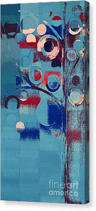 Canvas Print featuring the painting Bubble Tree - 85e-j4 by Variance Collections