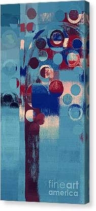 Canvas Print featuring the painting Bubble Tree - 85l-j4 by Variance Collections