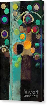 Bubble Tree - J122129155rv11 Canvas Print by Variance Collections