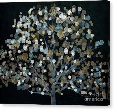 Bubble Tree Night Canvas Print by Mindy Sommers