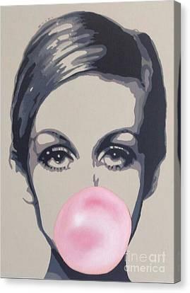 Bubblegum Beauty Canvas Print by Sara Sutton