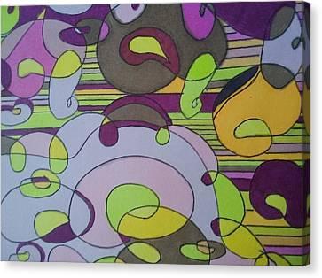 Bubblegum Closeup Canvas Print by Modern Metro Patterns and Textiles