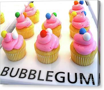 Bubblegum Cupcakes Canvas Print by Beth Saffer