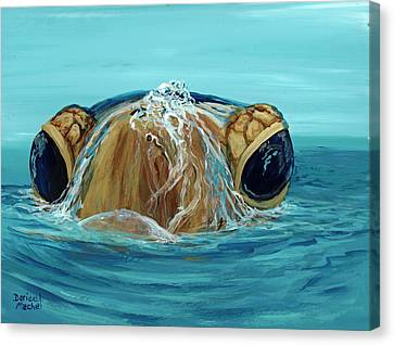 Canvas Print featuring the painting Bubbles by Darice Machel McGuire