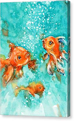 Bubbles Canvas Print by Judith Levins