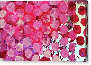 Canvas Print featuring the mixed media Bubbles by Mary Ellen Frazee