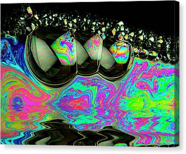 Canvas Print featuring the photograph Bubbles Redux by Jean Noren