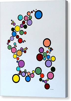 Bubbles2 Canvas Print by Thomas Gronowski