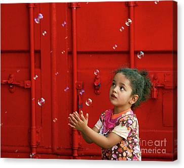 Bubbling Girl Canvas Print