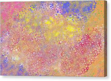 Bubbling Hot Water Spring Canvas Print by JSG Strokes