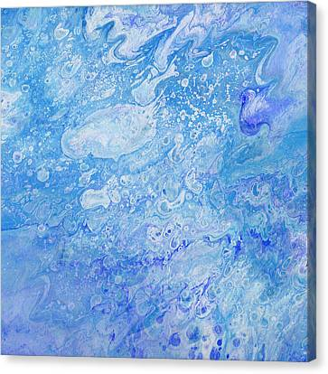 Bubbly Blues Canvas Print