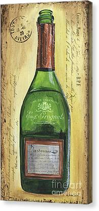 Bubbly Champagne 3 Canvas Print by Debbie DeWitt