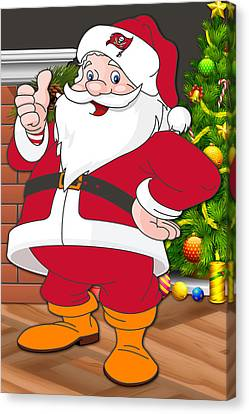 Buccaneers Santa Claus Canvas Print by Joe Hamilton