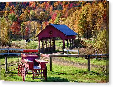 Canvas Print featuring the photograph Buck Board Ready For Fall Colors by Jeff Folger