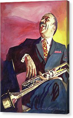 Buck Clayton Jazz Trumpet Canvas Print by David Lloyd Glover