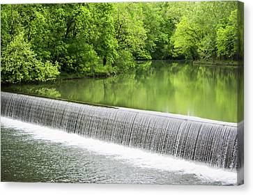 Canvas Print featuring the photograph Buck Creek Greens by Parker Cunningham
