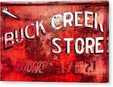 Jalopy Canvas Print - Buck Creek Store by Todd Klassy