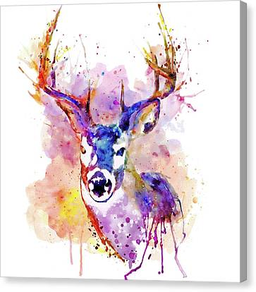 Canvas Print featuring the mixed media Buck by Marian Voicu