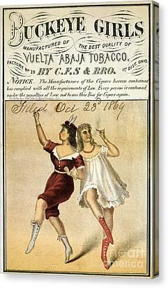 Buckeye Girls Tobacco Poster 1869 Canvas Print by Jon Neidert