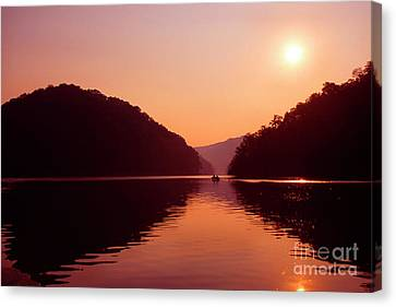 Canvas Print featuring the photograph Buckhorn Lake Sunset by Thomas R Fletcher