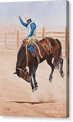 Bucking High Canvas Print by Danielle Smith