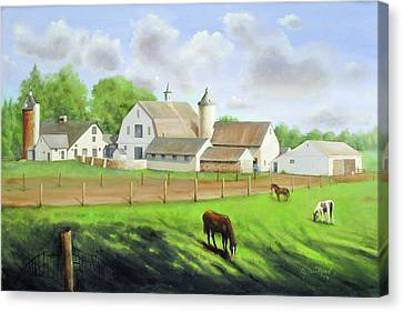 Buckingham Horse Farm Canvas Print by Oz Freedgood