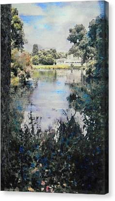 Buckingham Palace Garden - No One Canvas Print by Richard James Digance