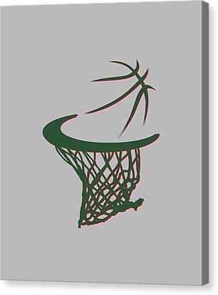 Bucks Basketball Hoop Canvas Print
