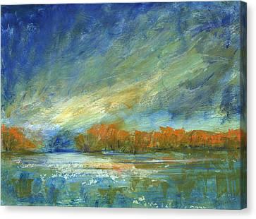 Bucks County Autumn Canvas Print by Addie Hocynec