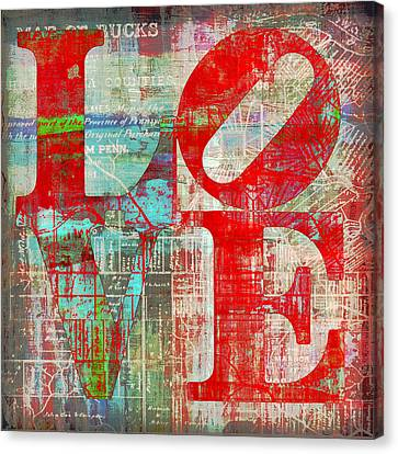 Bucks County Love Canvas Print by Brandi Fitzgerald