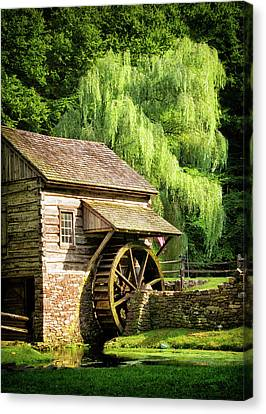 Bucks County Mill Canvas Print by Carolyn Derstine