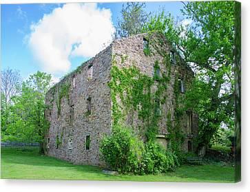 Canvas Print featuring the photograph Bucks County Pa - Bridgetown Millhouse Ruins by Bill Cannon