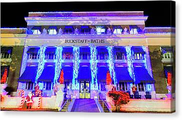Canvas Print featuring the photograph Buckstaff Baths - Christmastime by Stephen Stookey