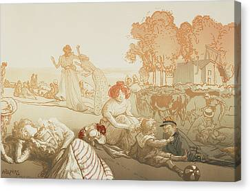 Bucolique Moderne Canvas Print by Auguste Lepere