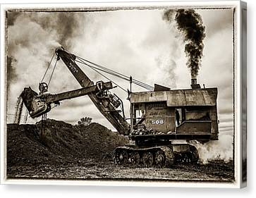 Evansville Canvas Print - Bucyrus Erie Shovel by Paul Freidlund