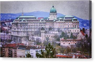 Old Houses Canvas Print - Buda Castle From Gellert Hill by Joan Carroll