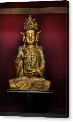 Buddha Statue Canvas Print by Niall McWilliam