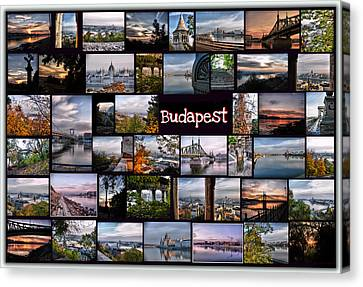 Budapest In October Canvas Print by Janos Kovac