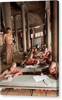 Canvas Print featuring the photograph Buddah School by Matthew Bamberg